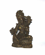 Old attractive genuine brass made Deity TARA Figure Miniature amulet from Nepal