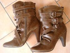 (Z18) Pepe Jeans Damen Schuh Stiefelette Stiefel Lederschuhe mit Schnallen gr.39