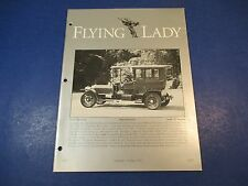 The Flying Lady Rolls-Royce, Magazine Sept/Oct 1992, 1907 SG, Rippon Limousine