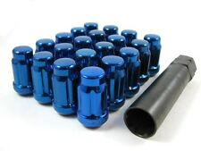20 Pc Set Spline Tuner Lug Nuts ¦ 12x1.5 ¦ Blue ¦ Honda Accord Civic CR-V