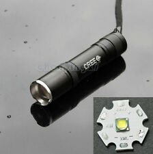 Super Mini CREE XML-T6 1600 Lumens LED Flashlight Zoomable Torch Light 5 Modes