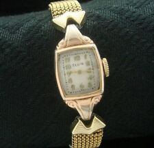 Ladies Antique/Old/Vintage '40s era Elgin Cocktail Wrist Watch in Unusual Case