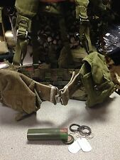 1958 webbing belt kit, Grade 2 belt, ammo, kidney, waterbottle pouch Battle Look