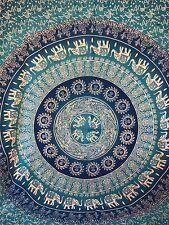 Indian Sole Sfumati MANDALA ARAZZO HIPPY Regina Muro Appeso Copriletto Coperta Copriletto