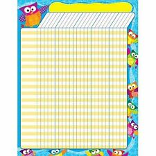 Owl Stars - Large Vertical Incentive Wall Reward Chart