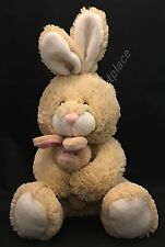 "Best Made Toys EASTER BUNNY RABBIT 8"" Beige Tan Plush Mom holds Baby Soft 2011"