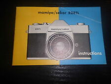 Manuale d'uso Mamiya/Sekor 528 TL fotocamera camera caméra FILM FOTO PHOTO