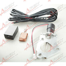 "2"" 51mm Electric Exhaust Downpipe E-CUT Cutout Valve Motor + Remote Control"