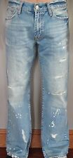 New American Eagle Men's Jeans Low Rise Boot Destroyed Size 30 Regular 30x30