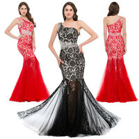 Formal Long Gown Party Prom Bridesmaid Evening Dress Long Mermaid Lace Floral