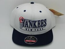 New York Yankees Snapback Hat Stack Logo Twill White Navy American Needle