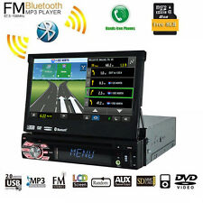 "7"" Touchscreen 1Din Car Radio CD/DVD Player Bluetooth Audio Video Head Unit GPS"