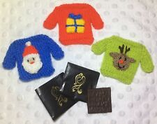 KNITTING PATTERN - Christmas Jumper Mint Covers fits After Eight-Santa, Reindeer