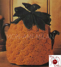 "VINTAGE CROCHET PATTERN COPY to make a PINEAPPLE TEA COSY TEAPOT COVER 7"" DK"