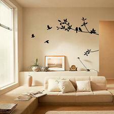 Tree Branch Black Bird Art Wall Stickers Removable Vinyl Decal Home BK Elegant