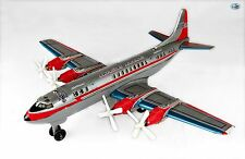 Vintage American Airlines Airliner Electra II Prop Engine Tin Toy Airplane Japan