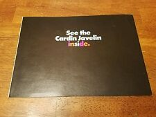 1972 72 AMC Pierre Cardin Javelin Color Sales Brochure booklet oem sst & amx