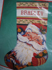 Dimensions Christmas Needlepoint Stocking Craft Kit,JOLLY OLD ST. NICK,#9074,16""