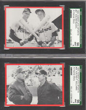 STAN MUSIAL, 1983 Homeplate #67, SGC MINT 9 w/Al Kaline-RARE 2 HOFers on 1 card