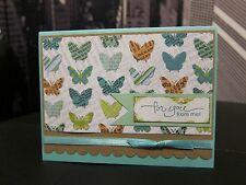 "Stampin Up ""For You From Me"" Everyday Butterfly Handmade Card"