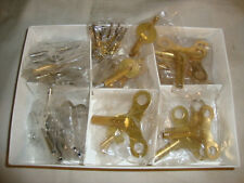 SUPER ASSORTMENT OF 47 KEYS NEW MANTEL / WALL CLOCK PARTS