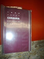 1990 DODGE CARAVAN ORIGINAL FACTORY OPERATORS OWNERS MANUAL PACKAGE NOS