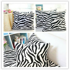 New Home Decor Zebra Cotton Linen Square Throw Sofa Pillow Case Cushion Cover KJ