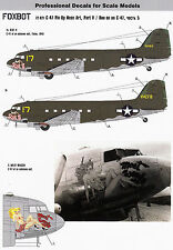 FO72021/ Foxbot Decals - Douglas C-47 - Pin-Up Nose Art - 1/72 - TOPP DECALS