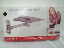 "Barkan TV Wall Mounting System Up To 21"" And 70 Pounds New In Open Box Silver"