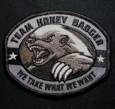 TEAM HONEY BADGER MILITARY TACTICAL US ARMY ISAF MORALE COMBAT SWAT HOOK PATCH