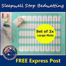 LARGE Bed Wetting Mattress Alarm -Twin Pack- Bedwetting Enuresis Child Urine Mat