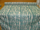 16 Metre Tree Design Teal Flame Retardant Jacquard Upholstery / Cushion Fabric