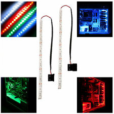 2x Blue/Red/Green modding PC Case LED strip light 30cm LED long molex connector