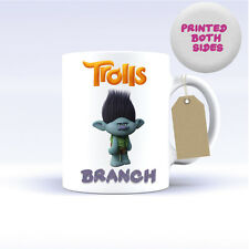 TROLLS CHARACTERS MUG CERAMIC PERSONALISED MUG COFFEE TEA CUP BRANCH POPPY FILM