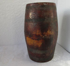 "۞   9+""  Оld  antique primitive  WOODEN   BARREL CASK  KEG  FLASK CANTEEN"