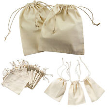 12pcs Small Burlap Natural Linen Sack Jewelry Pouch Drawstring Bags Gift