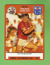 1991  RUGBY LEAGUE CARD #88  CHRIS WALSH, ILLAWARRA  STEELERS