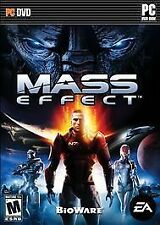 Mass Effect (PC, 2008) DVD Mature Game with Manual Excellent Condition