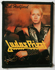 JUDAS PRIEST Rob Halford Original Vintage 1980`s Sew On Photo Card Patch