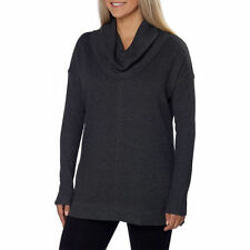 NEW Marc New York Andrew Marc Women's Fleece Cowl Neck Tunic Slate Heather M