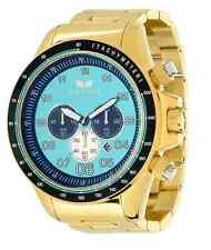 Vestal ZR3030 Mens Watch 52mm Gold-Tone Stainless Steel Case Teal Dial Chrono