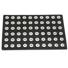 Portable Black Genuine Leather Display for 18-20mm Snap Buttons Chunk Jewelry