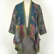 NEW NWT Parsley & Sage Plus Size Fall Winter Teal 100% Wool Cardigan Sweater 3X