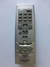 MATSUI CD DAB RADIO HIFI REMOTE CONTROL for CD48D