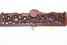 CHINESE EXPORT CARVED WOOD HANDLE FOR HAND BAG