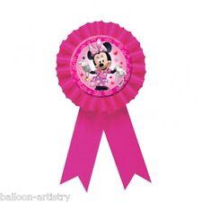 15 cm Disney Minnie Mouse Rose Partie faveur prix du badge ruban