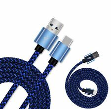 Blue Braided Micro USB 3.1 Sync Charger Cable Lead For ZTE Axon 7