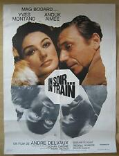 french movie poster Un soir... un train / One Night  a Train  Yves Montand 2.