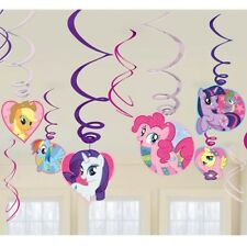 My Little Pony Hanging Girls Kids Swirl Birthday Party Decoration Cutouts New