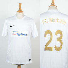 MENS NIKE DRI-FIT FC MARBACH WHITE FOOTBALL SHIRT SOCCER JERSEY GERMAN GERMANY L
